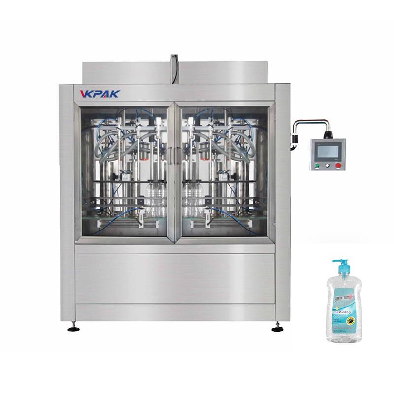 Automatisk desinfektionsmiddel stempelpåfyldningsmaskine
