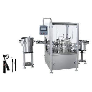 Automatisk påfyldning og tilslutning af maskine til maskara